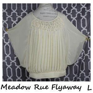Anthropologie Meadow Rue Flyaway Blouse Size L